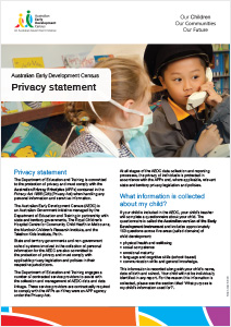 Image of cover of AEDC Privacy Statement document